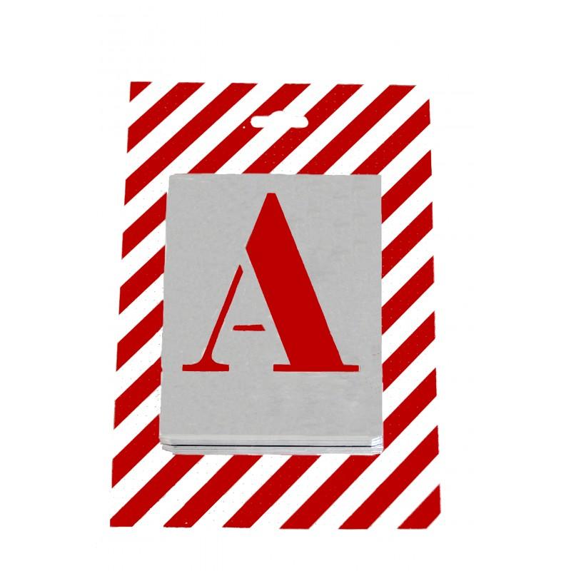 pochoirs alphabets de 26 lettres capitale 50 mm. Black Bedroom Furniture Sets. Home Design Ideas