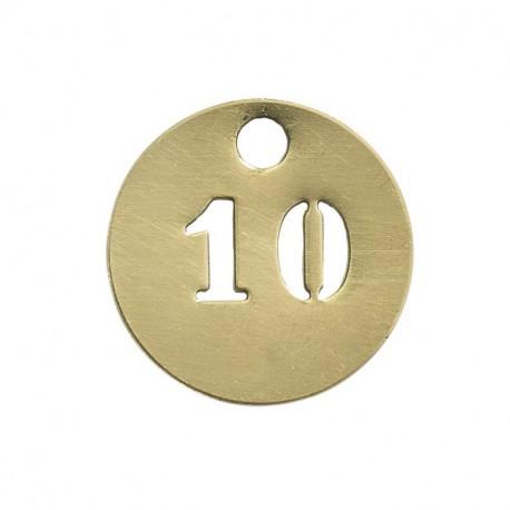 Jetons numérotés en laiton de 1 à 100