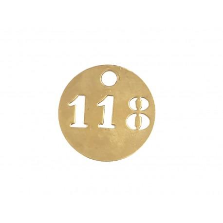 Jetons numérotés en laiton 3 chiffres