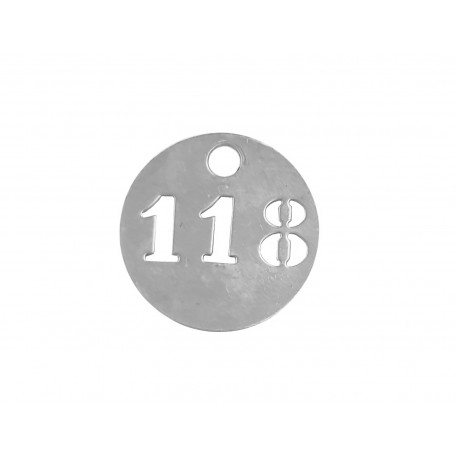 Jetons numérotés en aluminium 3 chiffres