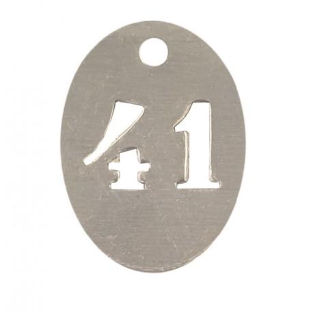 Numéros de clés ovales en aluminium de 1 à 100