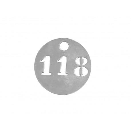 Numéros de clés ovales en aluminium 3 chiffres